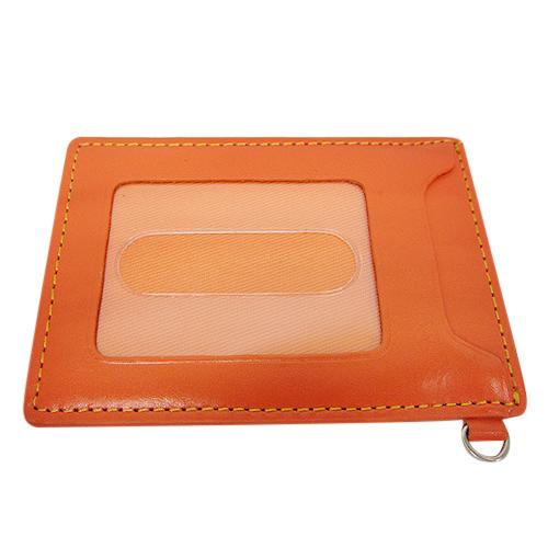 <東急ハンズ> オーソドックスなシングルパスケースです。両面ともパス(パスモなど)収納可能です。 ワタキ スカーレット単パス SCT−1 オレンジ画像