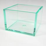 有賀 スタックケース A-2 クリアグリーン 74×74×51×4mm│樹脂・プラスチック アクリルケース・ボックス