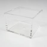 有賀 スタックケース A-2 クリア 7.4×7.4×5.1×0.4cm│収納・クローゼット用品 コレクションケース・ジュエリーボックス