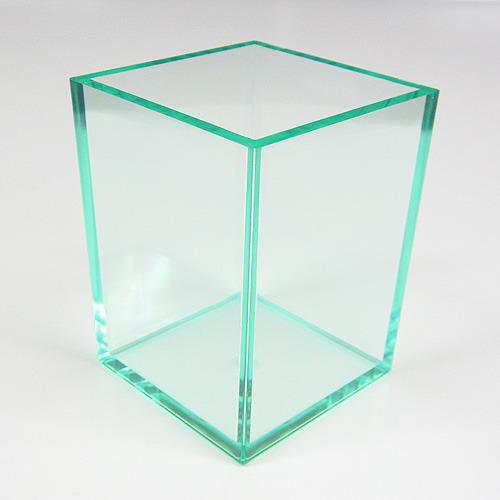 クリアカラーがおしゃれな、シンプルなペンスタンドです! 有賀 ペンスタンド 角型 クリアグリーン
