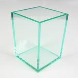 有賀 ペンスタンド 角型 クリアグリーン 70×70×90×4mm│収納・クローゼット用品 コレクションケース・ジュエリーボックス