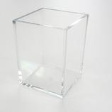 有賀 ペンスタンド 角型 クリア 70×70×90×4mm│樹脂・プラスチック アクリルケース・ボックス