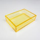 有賀 スタックケース 名刺サイズ クリアオレンジ 102×72×27×4mm