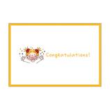 グリーティングライフ トーキングココミニカード RY−618 Congratulations!│カード・ポストカード メッセージカード