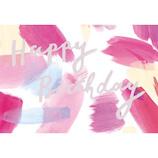 グリーティングライフ シックバースデーカード EC-9 ピンク│カード・ポストカード バースデー・誕生日カード