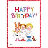 グリーティングライフ ココグリッターバースデーカード RY−636 sing│カード・ポストカード バースデー・誕生日カード