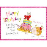 グリーティングライフ ココグリッターバースデーカード RY−637 cake│カード・ポストカード バースデー・誕生日カード