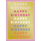 グリーティングライフ FunFunバースデーカード YY-26 ピンク│カード・ポストカード バースデー・誕生日カード