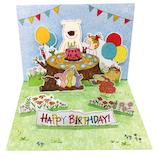 グリーティングライフ ココバースデーポップアップカード RY-782│カード・ポストカード バースデー・誕生日カード