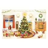 【クリスマス】 グリーティングライフ ミニサンタカード S−391