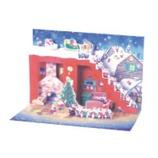 【クリスマス】 グリーティングライフ ミニサンタポップアップカード P−141