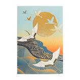 【クリスマス】 グリーティングライフ 和風フォーマルカード SN−105 青海と鶴