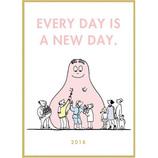 【2018年1月始まり】 グリーティングライフ B6 バーバパパ ピープル ハードカバー CD−638−BB 月曜始まり