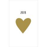 【2017年12月始まり】 グリーティングライフ B6 シックダイアリー ハート CD−694−MM 月曜始まり