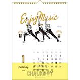 【2019年版・壁掛】グリーティングライフ チョークボーイ カレンダー C1037CB 日曜始まり