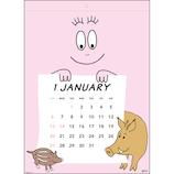 【2019年版・壁掛】グリーティングライフ バーバパパ カレンダー C1047BB 日曜始まり