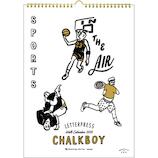 【2020年版・壁掛】グリーティングライフ チョークボーイ 壁掛けカレンダー スポーツ C−1134−CB 日曜始まり