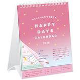 【2020年版・壁掛卓上兼用】グリーティングライフ ハッピーシングス カレンダー C−1153−KE 日曜始まり