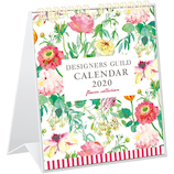 【2020年版・壁掛卓上兼用】グリーティングライフ デザイナーズ・ギルド カレンダー C−1164−DG 日曜始まり