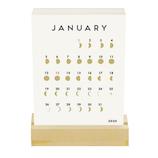 【2020年版・卓上】グリーティングライフ シック 活版印刷 卓上カレンダー C−1172−MM 日曜始まり