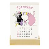 【2020年版・卓上】グリーティングライフ バーバパパ 活版印刷 卓上カレンダー 日曜始まり C−1174−BB