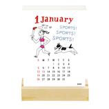 【2020年版・卓上】グリーティングライフ マイ・フェイバリット 活版印刷 卓上カレンダー C−1176−SD 日曜始まり