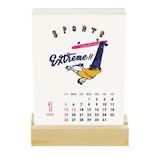 【2020年版・卓上】グリーティングライフ チョーク 活版印刷 卓上カレンダー C−1177−CB 日曜始まり