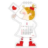 【2020年版・卓上】グリーティングライフ COCO ダイカットカレンダー C−1178−RY 日曜始まり