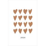 【2019年12月始まり】 グリーティングライフ シック B6スリム マンスリー CD‐898‐MM ハート 月曜始まり