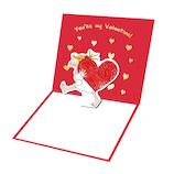 【バレンタイン】 グリーティングライフ ココ バレンタイン ポップアップミニカード RY−786│プレゼント ギフト メッセージカード カード
