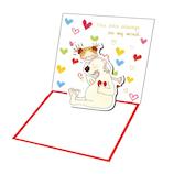 【バレンタイン】 グリーティングライフ ココ バレンタイン ポップアップミニカード RY−788|プレゼント ギフト メッセージカード カード