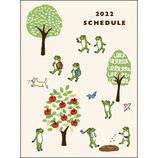 【2022年1月始まり】 かえるの時間手帳 A6 マンスリー CD-1068-MK キャンプ 月曜始まり│手帳・日記帳 ダイアリー