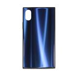 【iPhoneX/Xs】 藤本電業 スキューブオーロラケース(SQUBE AURORA CASE) J18S-SQ05BL ブルー