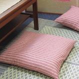 <東急ハンズ> かすり縞 座布団カバー 小豆画像