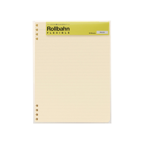 デルフォニックス(DELFONICS) ロルバーン フレキシブル リフィル 罫線 A5 500716 200 クリーム