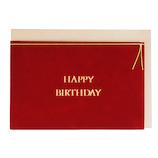 ニットーランド 別珍カード バースデー 赤│カード・ポストカード バースデー・誕生日カード