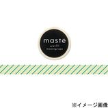 マークス(MARKS) マスキングテープ maste MST−MKT05−MI ミント/ストライプ