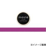 マークス(MARKS) マスキングテープ maste MST−MKT08−FPK ネオンマゼンタ/ストライプ