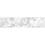 マークス(MARKS) ぬり絵ができるマスキングテープ 色鉛筆付セット MST−ZC03−B マステ フラワー