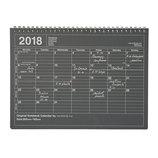 【2018年1月始まり】 マークス(MARKS) ノートブックカレンダー M マンスリー 18WDR-NB1 ブラック 月曜始まり