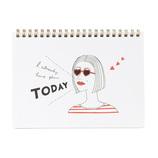 【2018年4月始まり】 マークス(MARKS) イラスト入りノートブックカレンダー・S ほぼB6 NB マンスリー 18SDR-NB4 C 月曜始まり