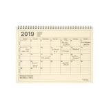 【2018年12月始まり】 マークス(MARKS) ノートブックカレンダー・M B5変型 NB マンスリー 19WDR-NB1 アイボリー 月曜始まり