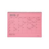 【2018年12月始まり】 マークス(MARKS) ノートブックカレンダー・M B5変型 NB マンスリー 19WDR-NB1 ピンク 月曜始まり