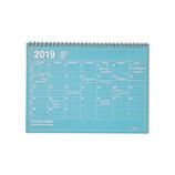 【2018年12月始まり】 マークス(MARKS) ノートブックカレンダー・M B5変型 NB マンスリー 19WDR-NB1 ブルー 月曜始まり