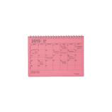 【2019年1月始まり】 マークス(MARKS) ノートブックカレンダー・S B6変型 NB マンスリー 19WDR-NB2 ピンク 月曜始まり