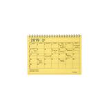 【2019年1月始まり】 マークス(MARKS) ノートブックカレンダー・S B6変型 NB マンスリー 19WDR-NB2 イエロー 月曜始まり
