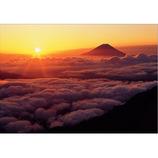 ピンナップ ポストカード 富士山 御来光 FJ124