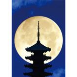 ピンナップ ポストカード 満月 京都 八坂の塔 NP844