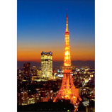 ピンナップ ポストカード 東京タワー ヒルズ 夕焼け TY60