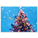 【クリスマス】 ピンナップ ポストカード ツリー 水色 MC189